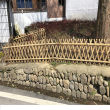 德州临邑县竹篱笆木护栏白下竹围栏插地围栏