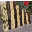 上饶德兴市竹篱笆碳化木护栏合川竹围栏绿化护栏