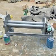 木里电动卷板机铁皮起线机,小型手动压边机多少钱一套生产厂家