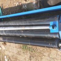 電動鐵板卷管機1.1米三軸卷筒機電動鐵板卷管機8毫米板三軸卷管機